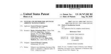 GE动态控制3D打印-增材制造过程的专利获得通过