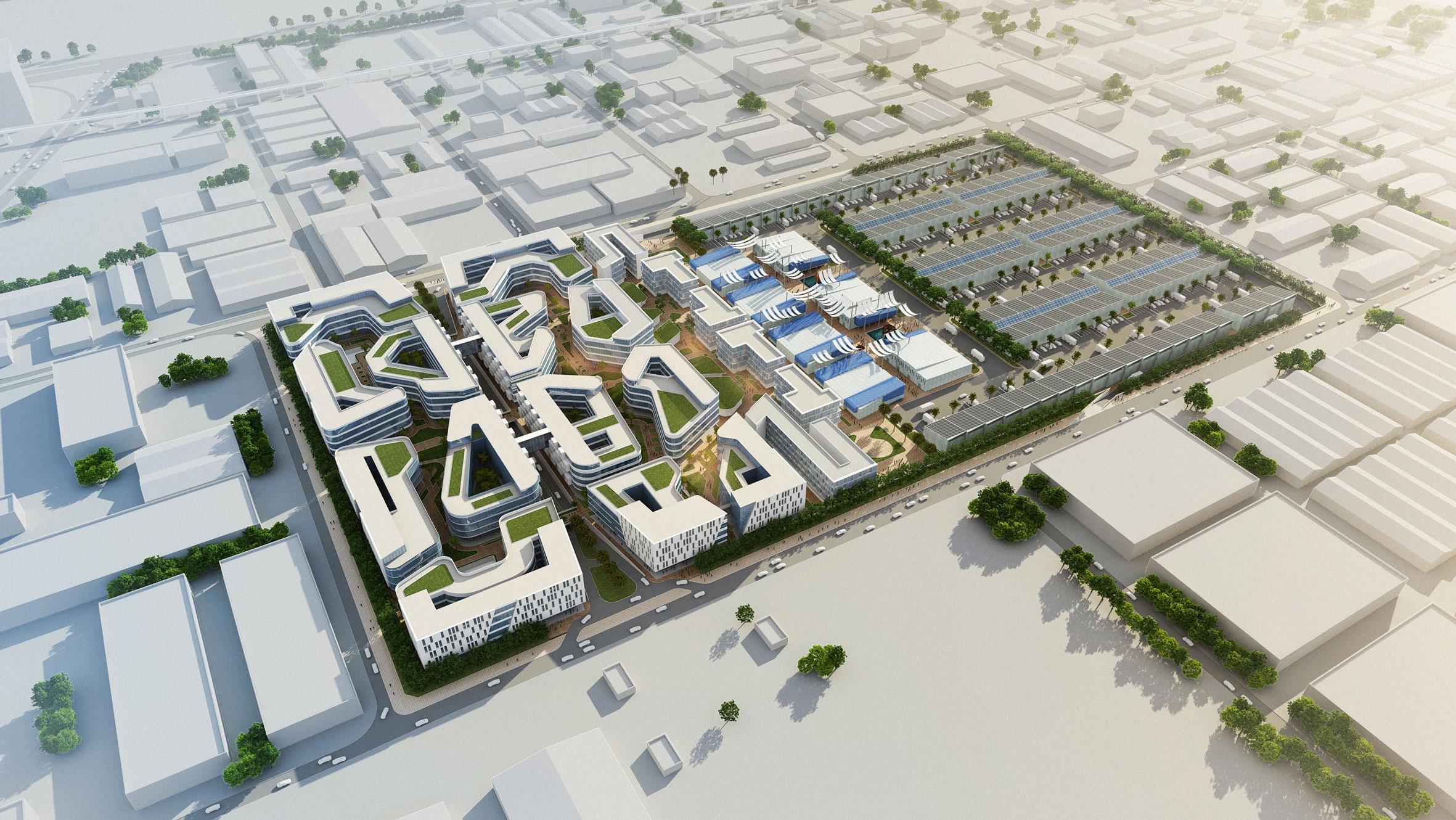 迪拜规划图